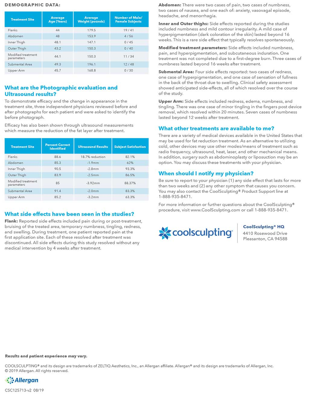 CoolSculpting full safety info
